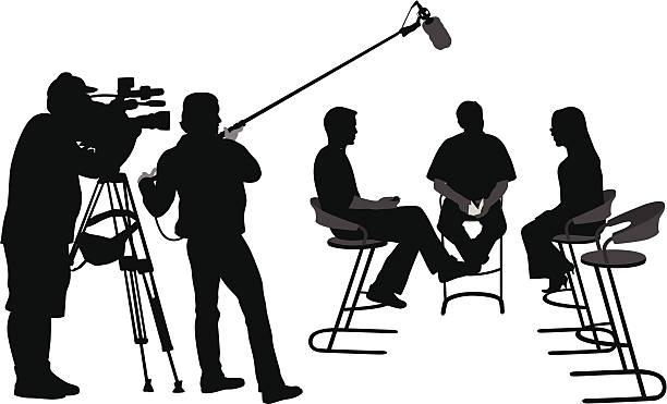 illustrations, cliparts, dessins animés et icônes de forbroadcast - interview