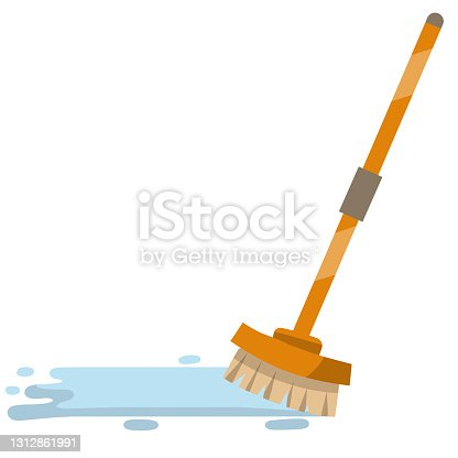 istock MOP for cleaning house. Object for homework with long handle. 1312861991