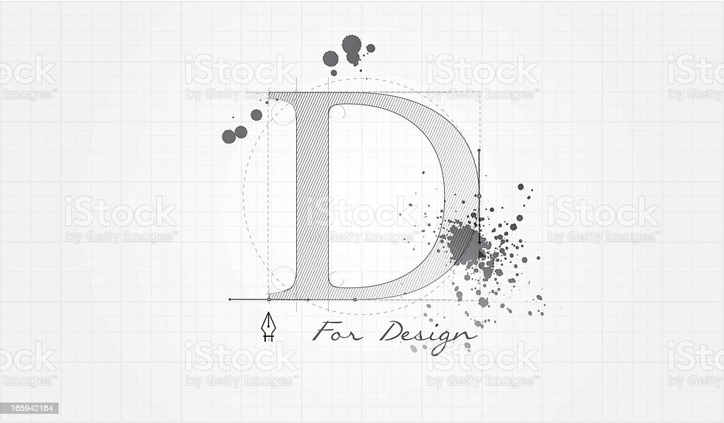 D for Design vector art illustration