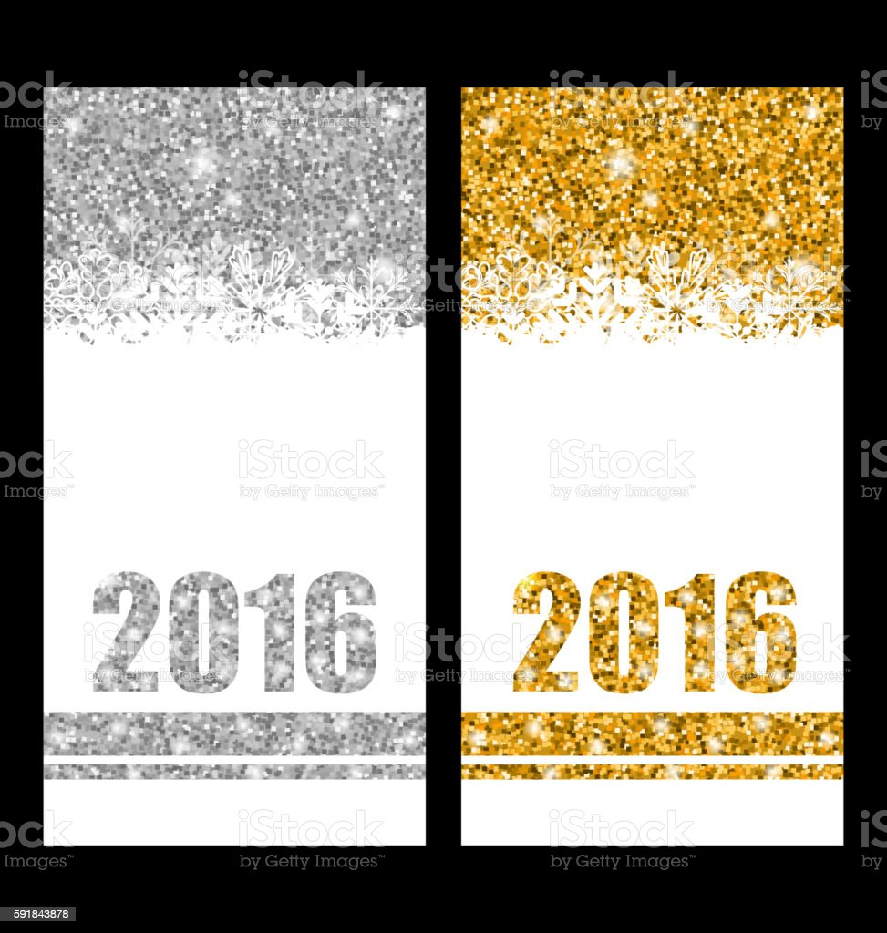 for Happy New Year 2016 vector art illustration