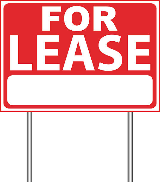 For Lease Sign For Lease Sign. lease agreement stock illustrations