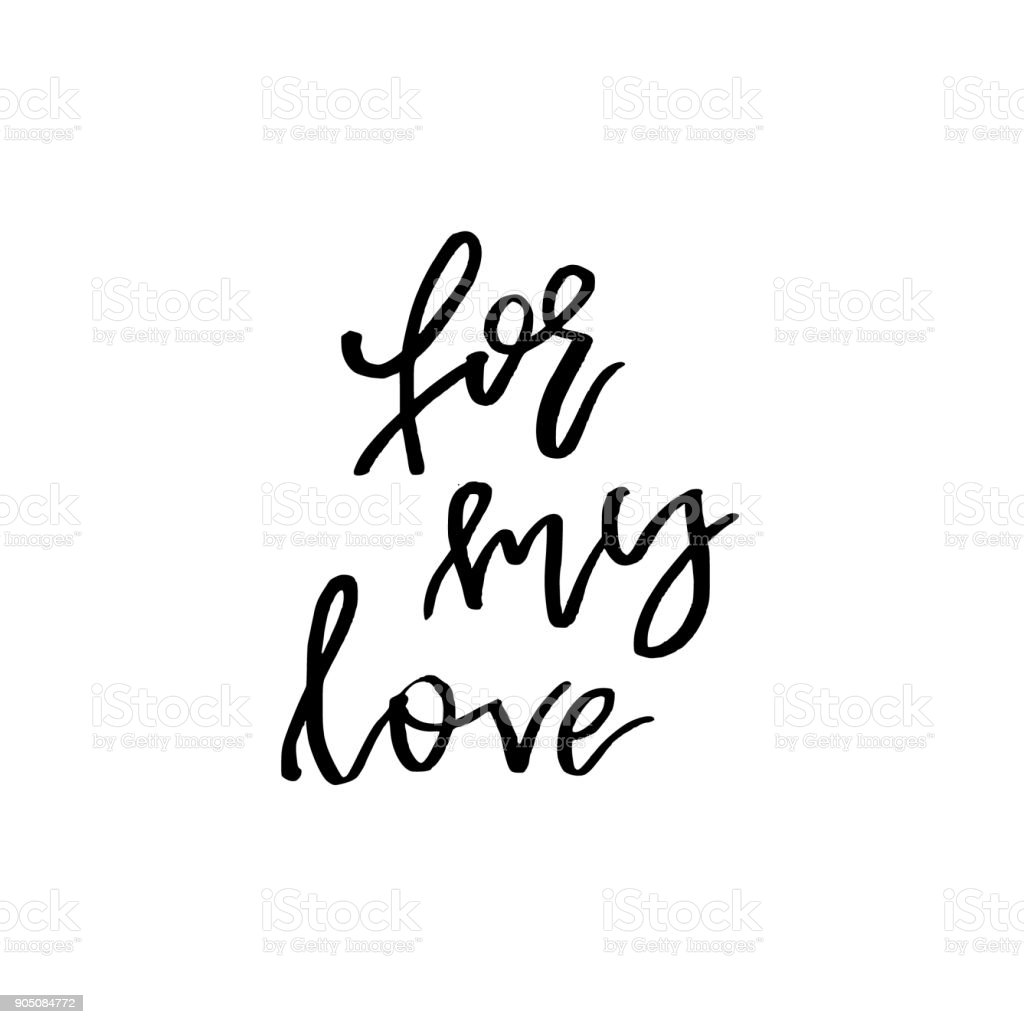 For my love happy valentines day card with calligraphy text on for my love happy valentines day card with calligraphy text on white template for kristyandbryce Image collections