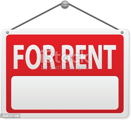 istock For rent sign board 606237496
