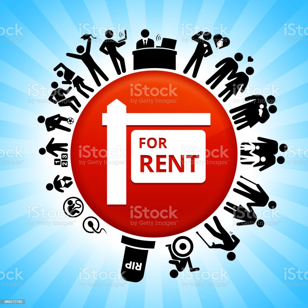 For Rent Sign Lifecycle Stages of Life Background royalty-free for rent sign lifecycle stages of life background stock vector art & more images of adolescence