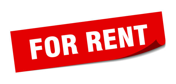 for rent sticker. for rent square isolated sign. for rent vector art illustration