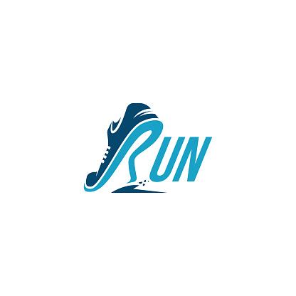R for Run / Running logo vector