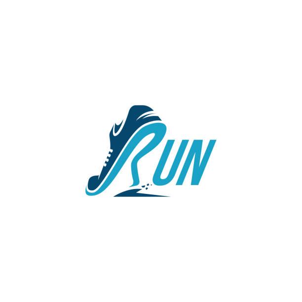 R for Run / Running logo vector Creative wordmark logo, R for Run / Running logo vector active lifestyle stock illustrations
