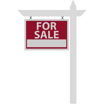 For Sale Sign Illustration clipart