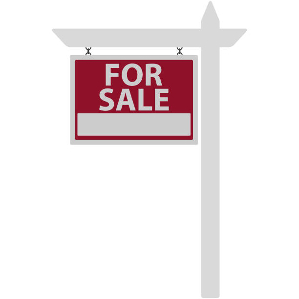 for sale sign illustration - sprzedawać stock illustrations