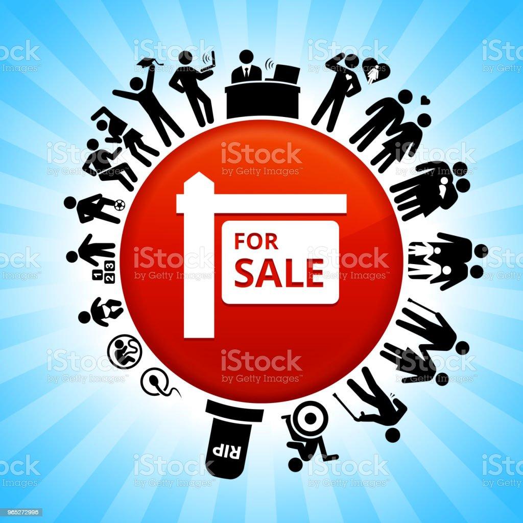 For Sale Sign Lifecycle Stages of Life Background for sale sign lifecycle stages of life background - stockowe grafiki wektorowe i więcej obrazów adolescencja royalty-free