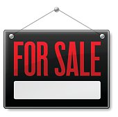 For Sale business sign. EPS 10 file. Transparency effects used on highlight elements.
