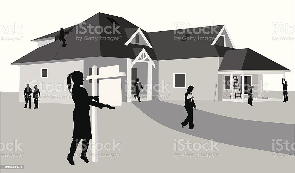 For Sale Vector Silhouette vector art illustration