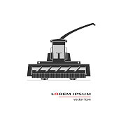 Forage harvester icon isolated on background. Vector illustration.
