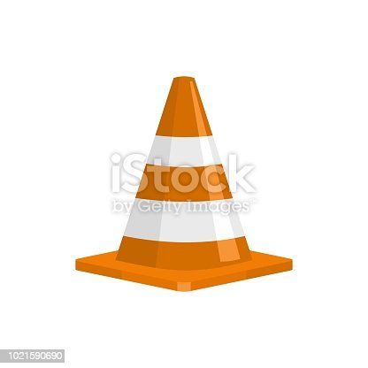 Forbidden cone icon. Flat illustration of forbidden cone vector icon for web