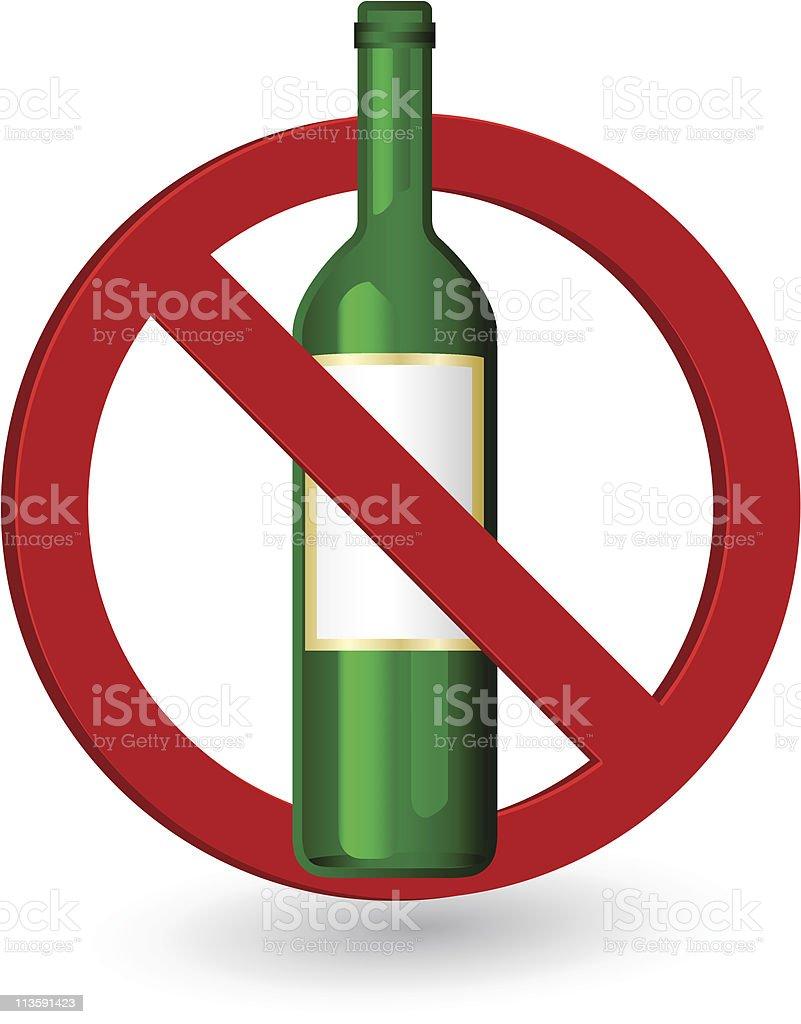 Forbidden sign vector art illustration
