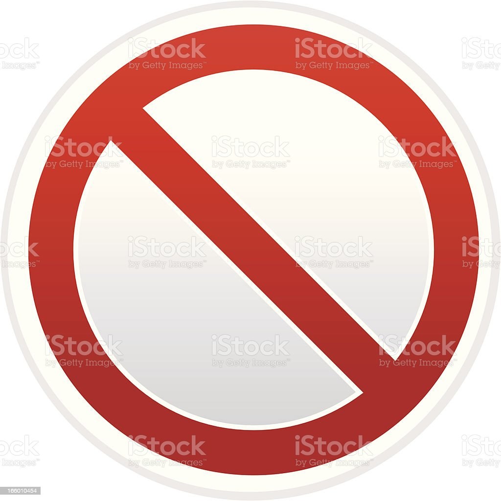 forbidden sign vector art illustration