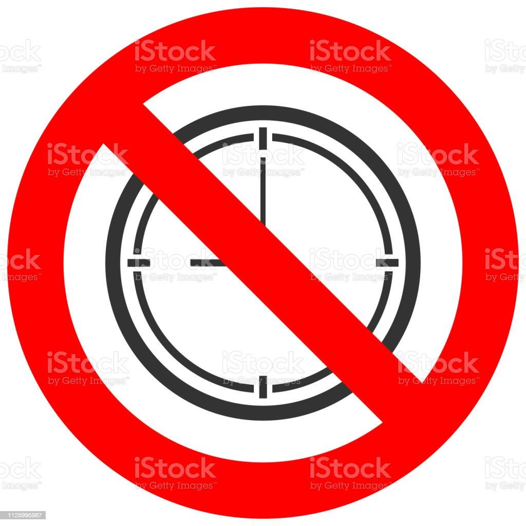 En Fondo Señal Reloj Ilustración De Icono Con Prohibido Aislado vN0nwm8