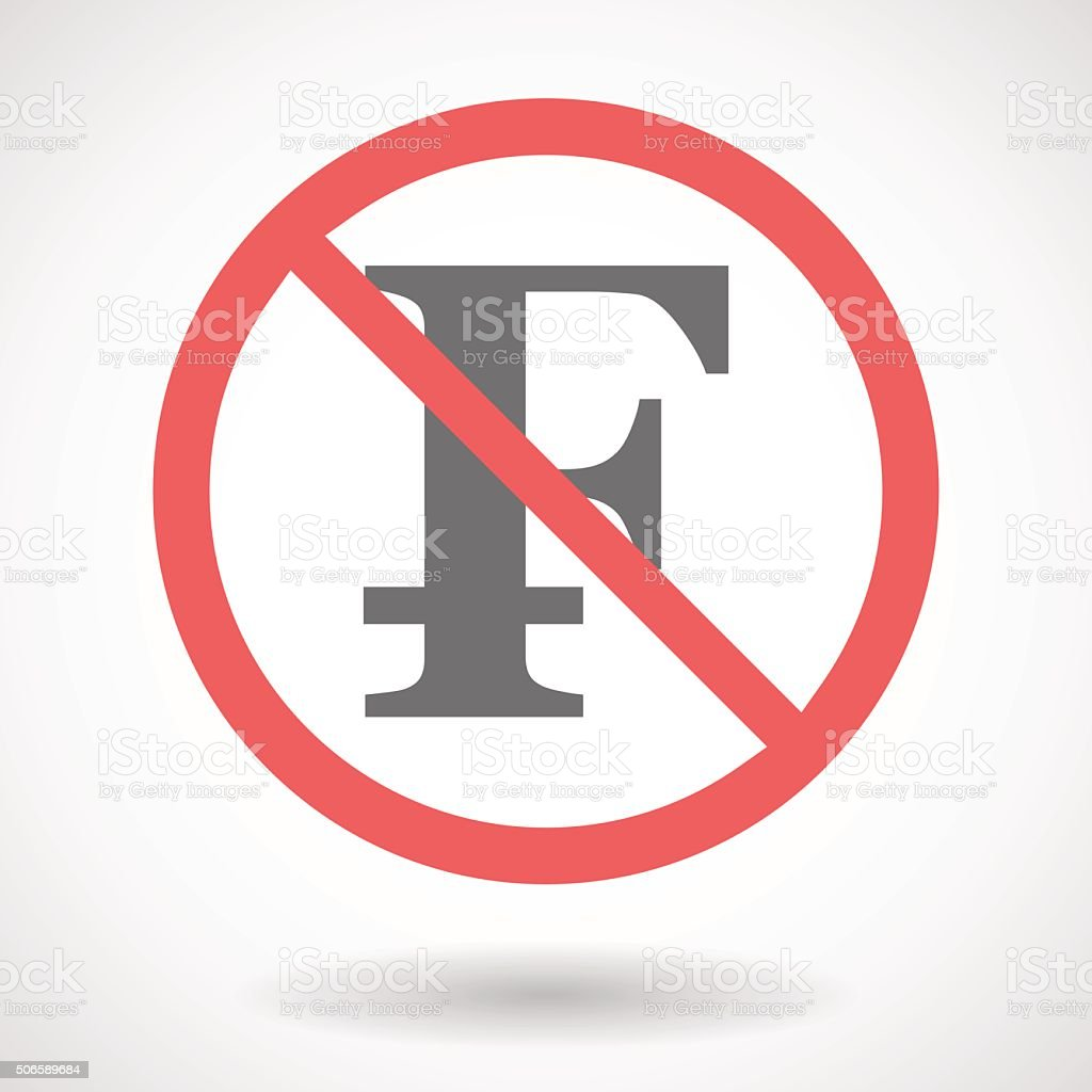 Forbidden signal with a swiss franc sign stock vector art more forbidden signal with a swiss franc sign royalty free forbidden signal with a swiss franc buycottarizona Images