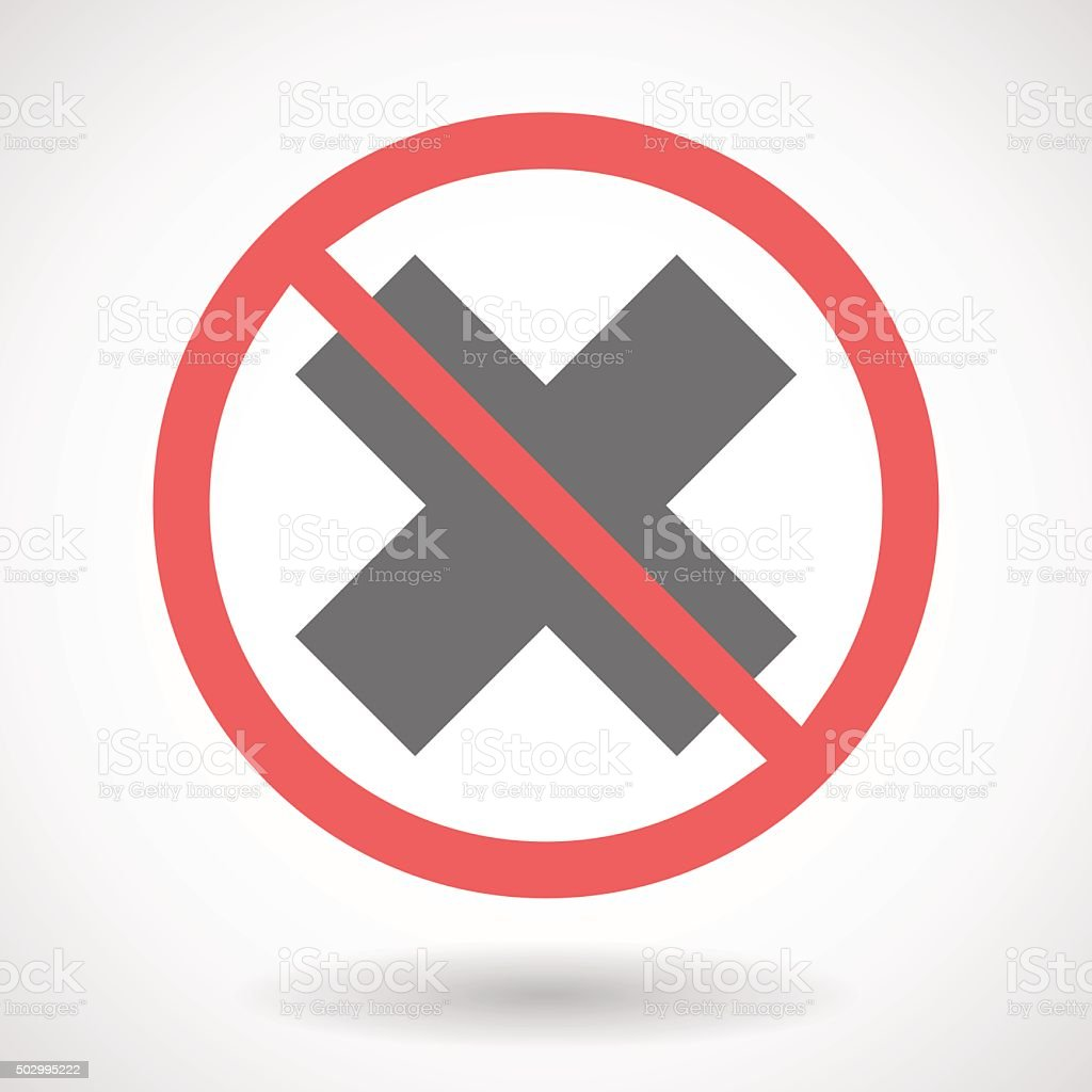 禁止信号にx の標識 のイラスト素材 502995222 istock