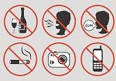 istock Forbidden signs. Vector illustration. 675292072