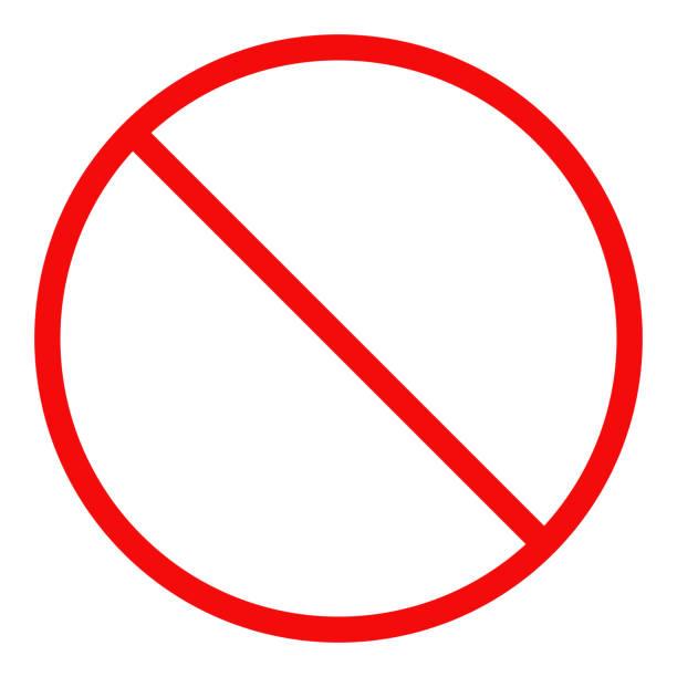 stockillustraties, clipart, cartoons en iconen met geen teken. verboden symbool. vector - verboden