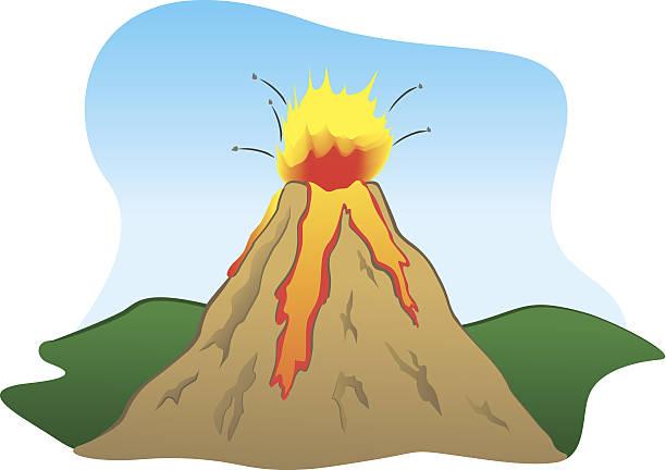 kraft der natur einen vulkan eruption - pompeii stock-grafiken, -clipart, -cartoons und -symbole
