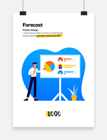 Forecast Concept Flat Design for Posters, Covers and Banners. Modern Flat Design Vector Illustration.