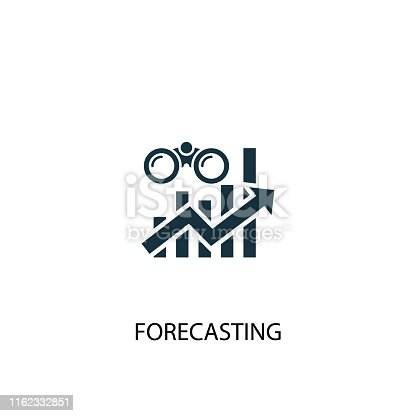 forecasting creative icon. Simple element illustration. forecasting concept symbol design from Business intelligence collection. Can be used for web and mobile.