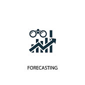 istock forecasting creative icon. Simple element illustration. forecasting concept symbol design from Business intelligence collection. Can be used for web and mobile. 1162332851