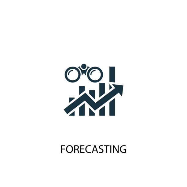 forecasting creative icon. Simple element illustration. forecasting concept symbol design from Business intelligence collection. Can be used for web and mobile. forecasting creative icon. Simple element illustration. forecasting concept symbol design from Business intelligence collection. Can be used for web and mobile. forecasting stock illustrations