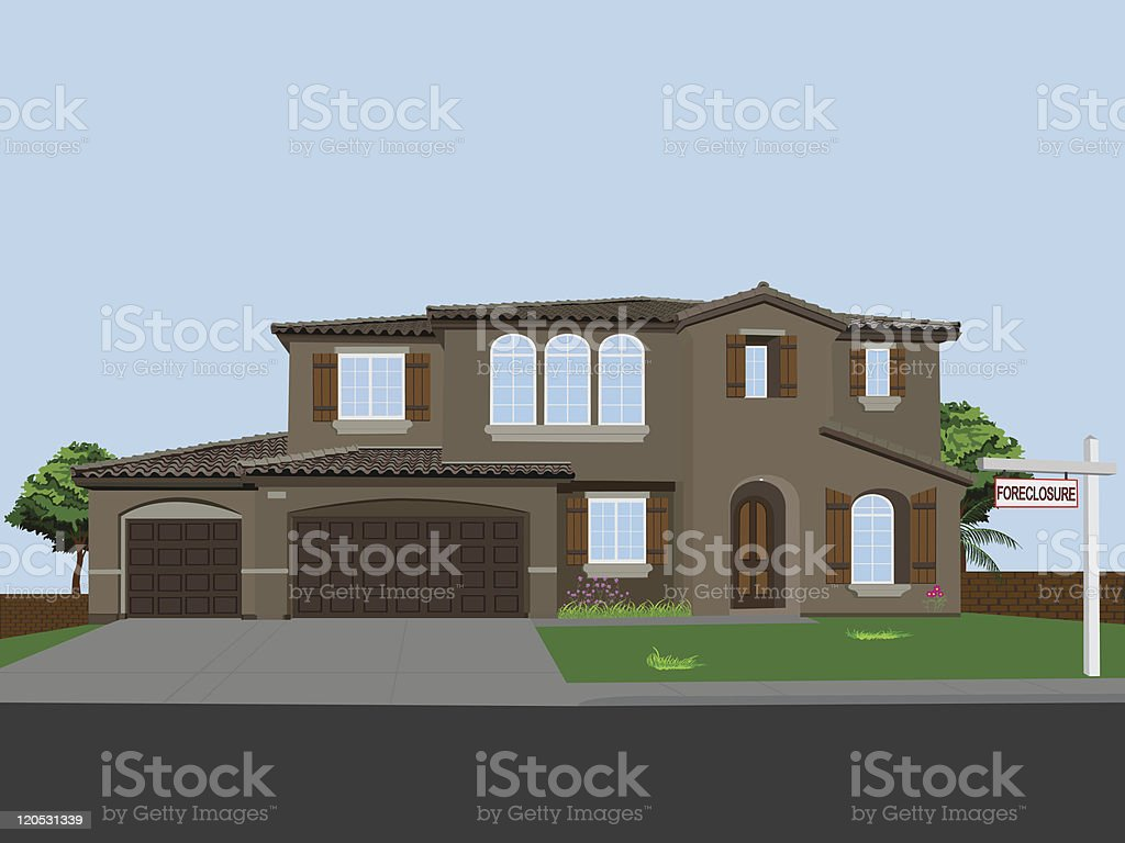 Foreclosed Vector Home vector art illustration