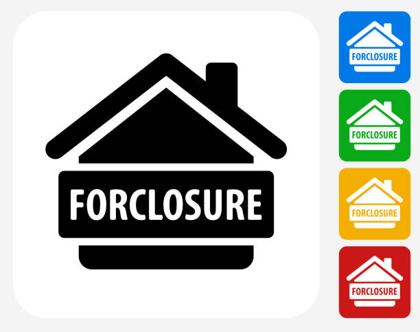 Foreclosure Icon Flat Graphic Design vector art illustration
