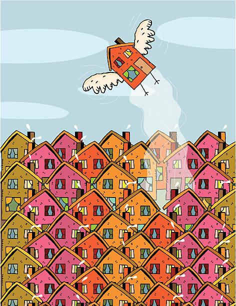 foreclosure neighborhood house fling vektorkonstillustration