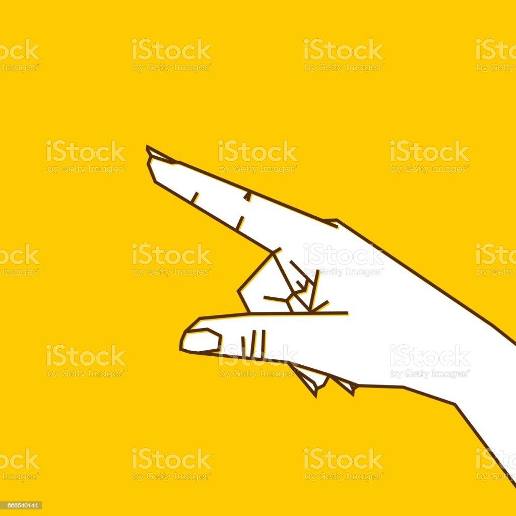 forefinger pointing gesture design vector art illustration