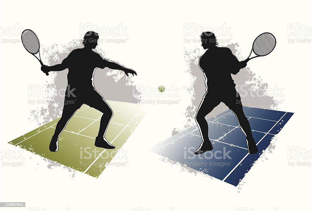 forehand and backhand vector art illustration