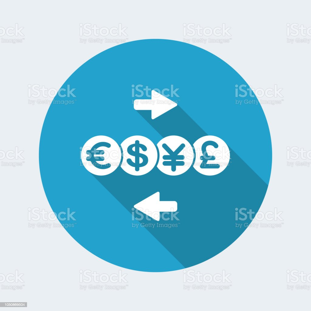 Foreign Currency Exchange Service Minimal Icon Stock