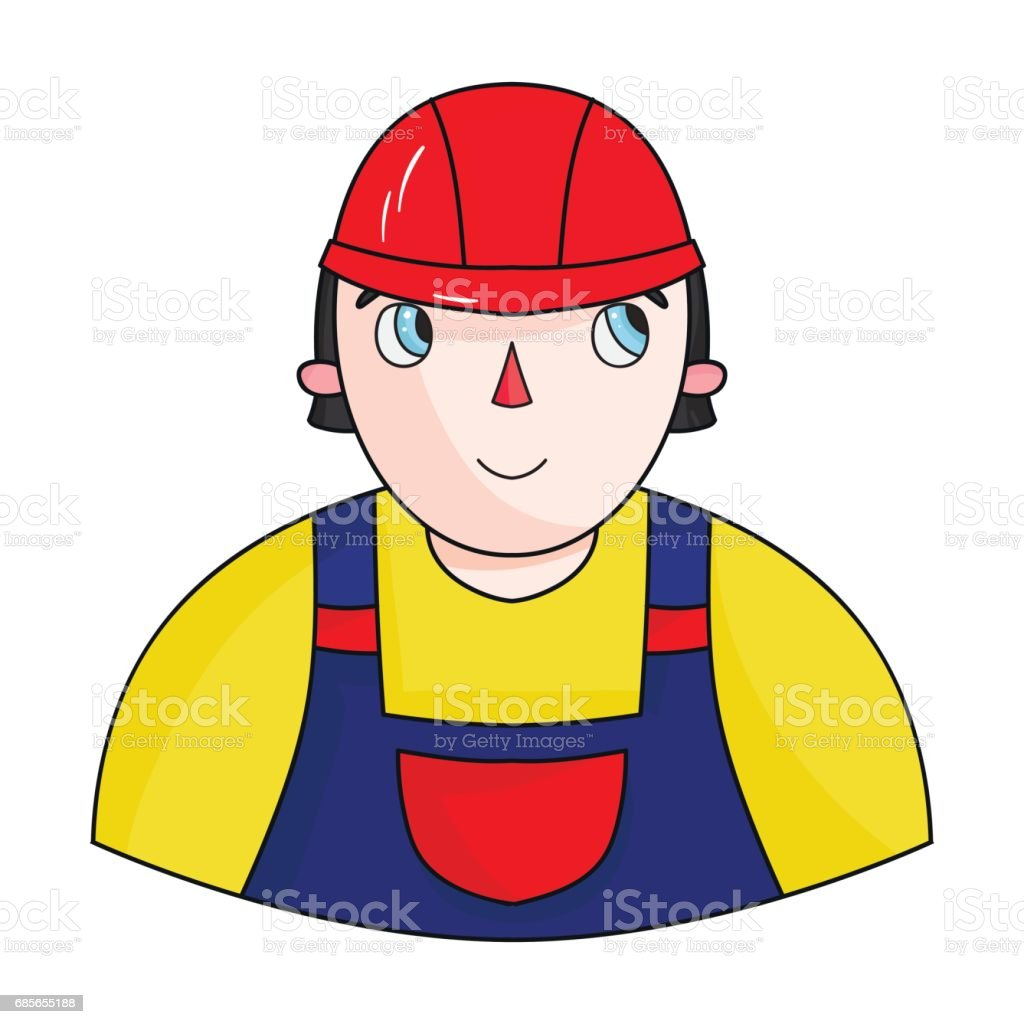 Foreman icon in cartoon style isolated on white background. Architect symbol stock vector illustration. royalty-free foreman icon in cartoon style isolated on white background architect symbol stock vector illustration stock vector art & more images of architect