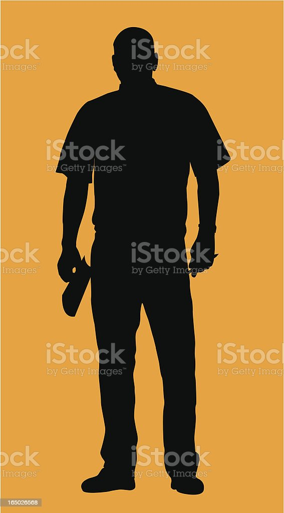 Foreman or Blue Collar Manager  ( Vector ) vector art illustration