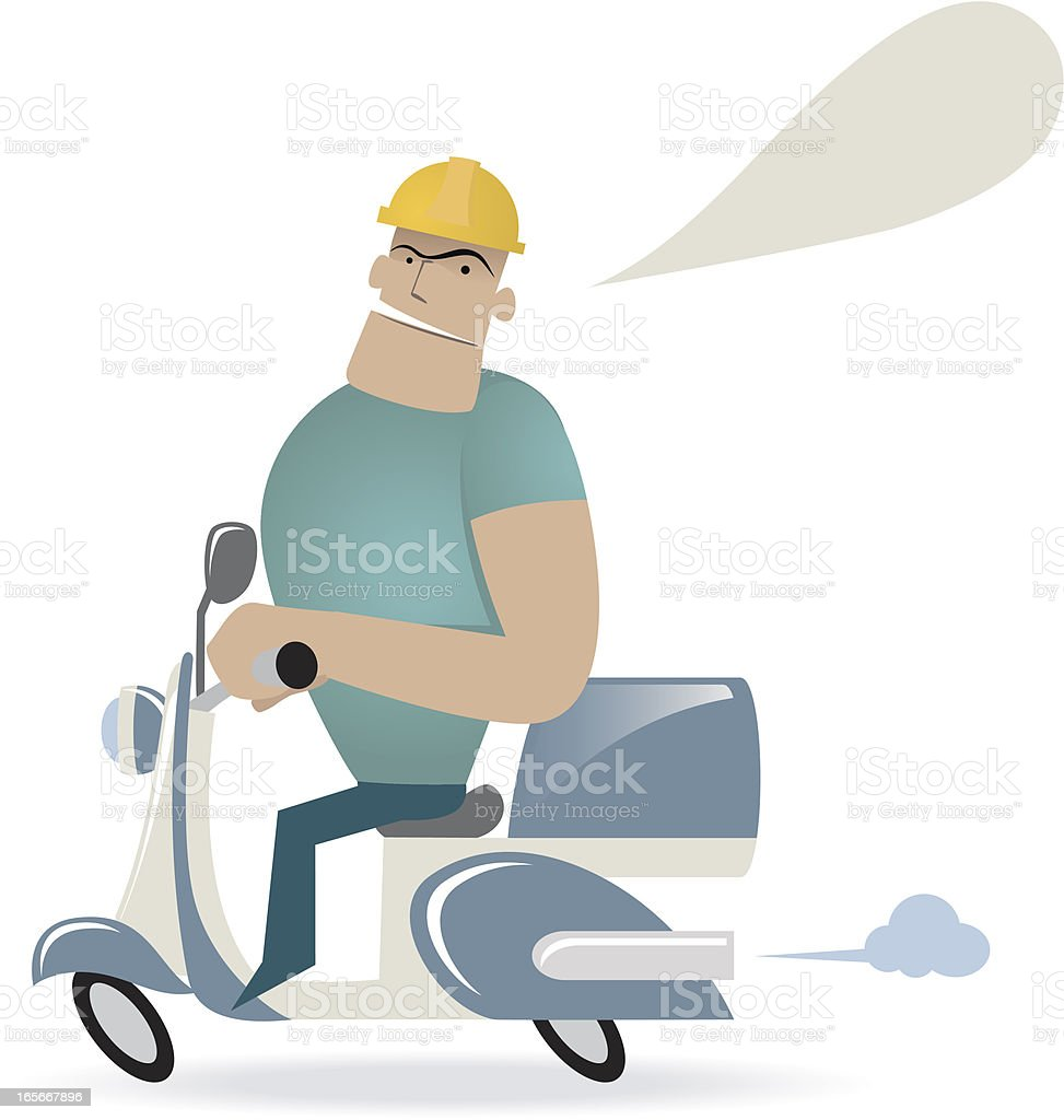 Foreman Riding A Motorcycle royalty-free stock vector art