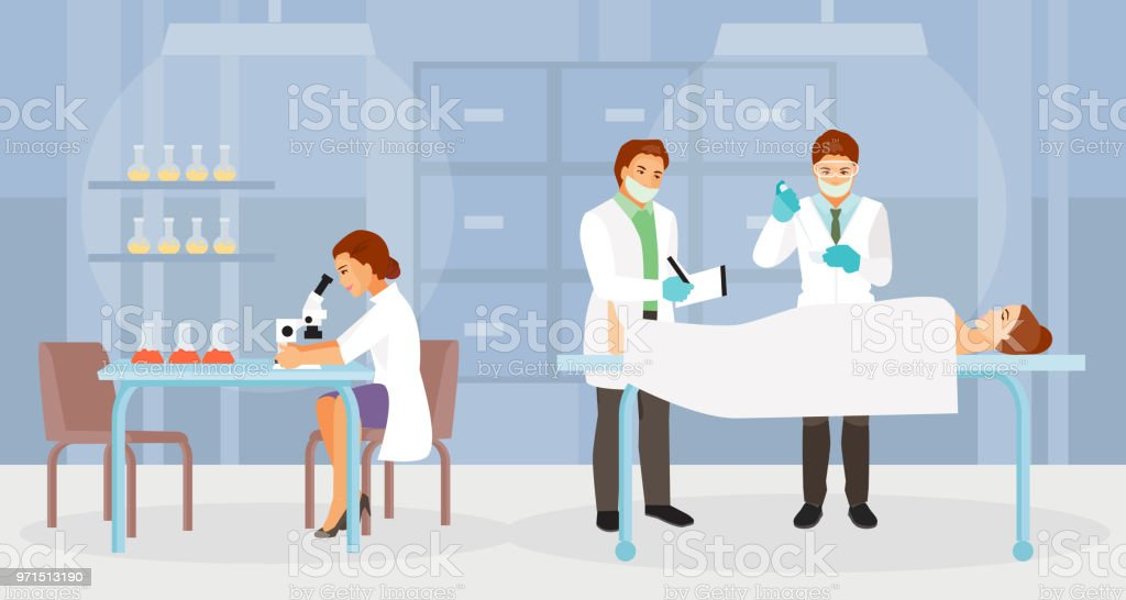 Forensic Medical Experts Vector Stock Illustration Download Image Now Istock