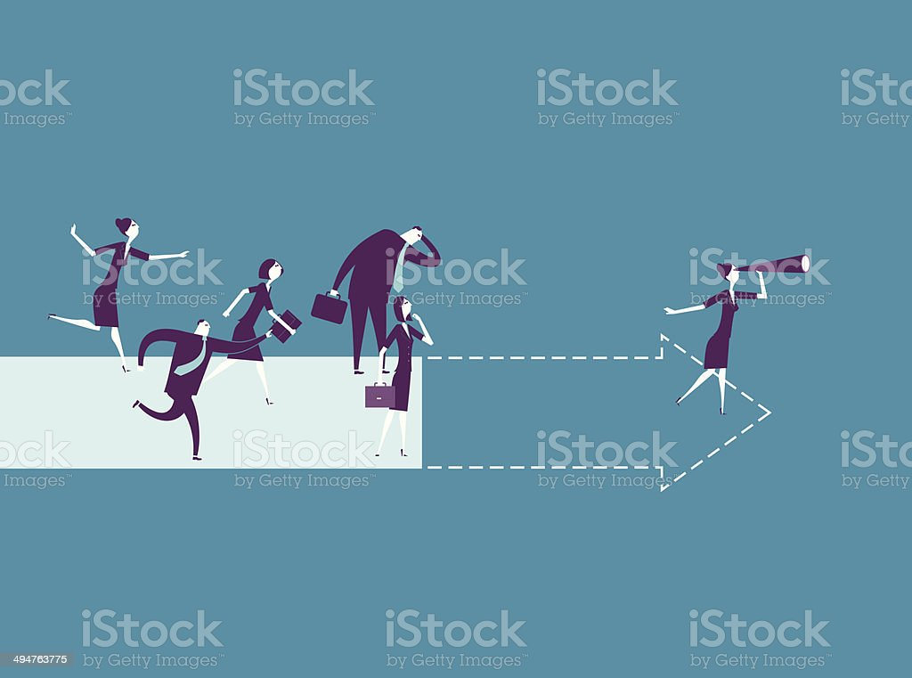 Foresight vector art illustration