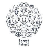 Forest animals design