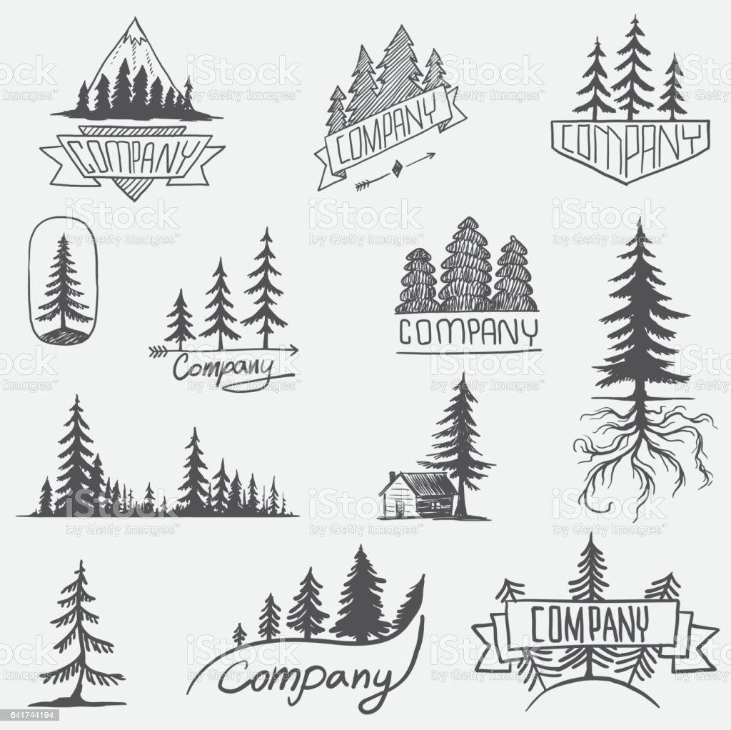royalty free pine tree clip art vector images illustrations istock rh istockphoto com free vector clipart pine trees vector pine trees free