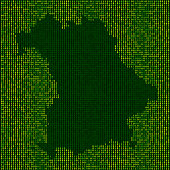 Forest Bavaria Map Binary Numbers Vector Pattern