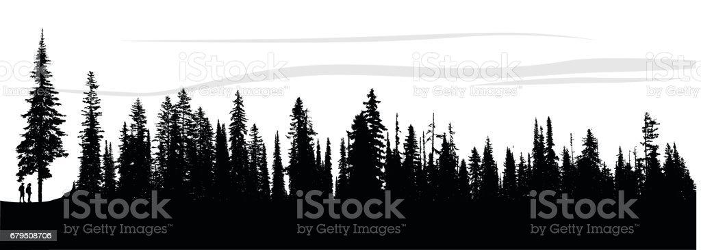 Forest Breeze vector art illustration