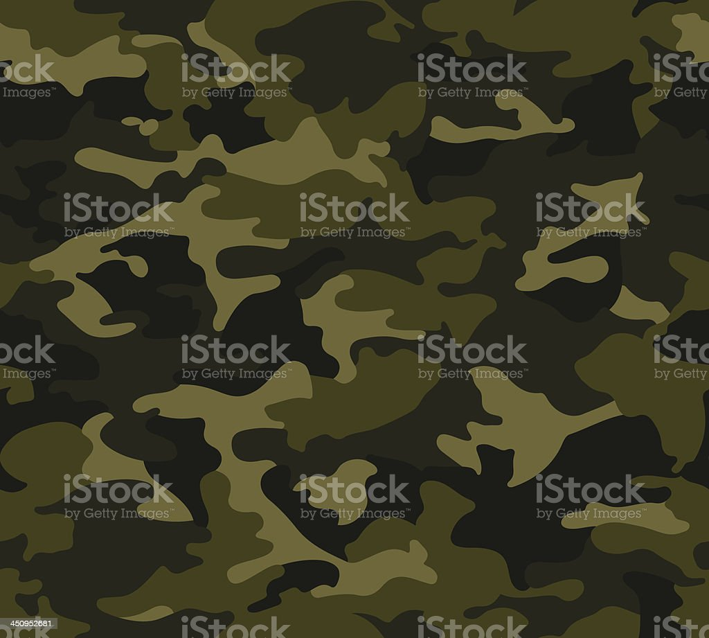 Forest Camo Pattern Repeat royalty-free stock vector art