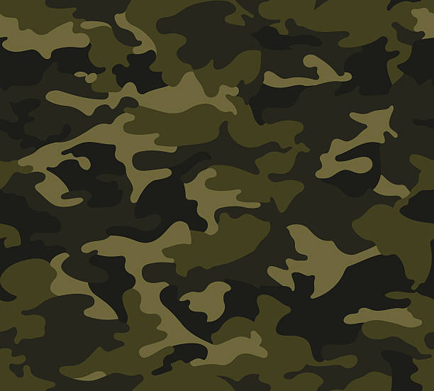 ilustrações, clipart, desenhos animados e ícones de floresta estampa camuflada repita - forças armadas