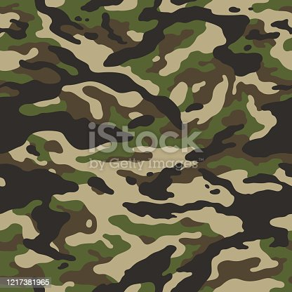 forest camouflage seamless vector background
