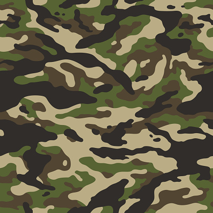 forest camouflage seamless pattern