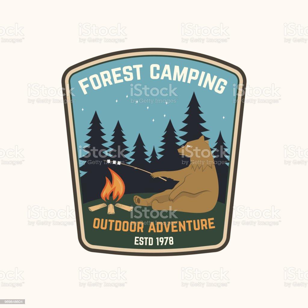 Wald camping. Vektor-illustration – Vektorgrafik